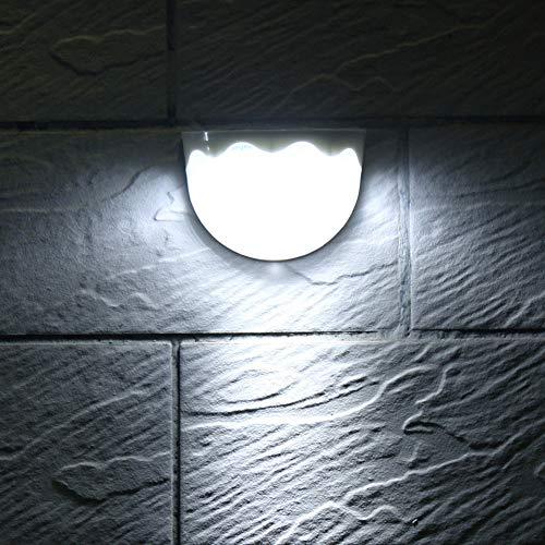 Liquidación! WATOPI - Luces solares de pared para exteriores, 6 luces LED de seguridad solares, impermeables, inalámbricas, para exteriores, luces solares para jardín, valla, exterior