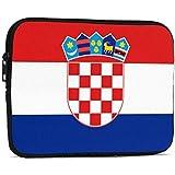 クロアチア国旗タブレットスリーブケースIpad保護バッグ用耐衝撃ケースバッグ-ブラック-7.9インチ