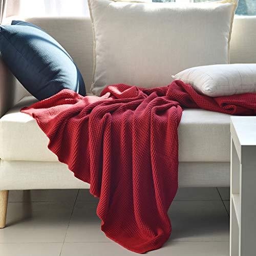 HCYTPL deken, Super Soft & Thick Woven Chair slaapbank sprei, 130 cm x 180 cm