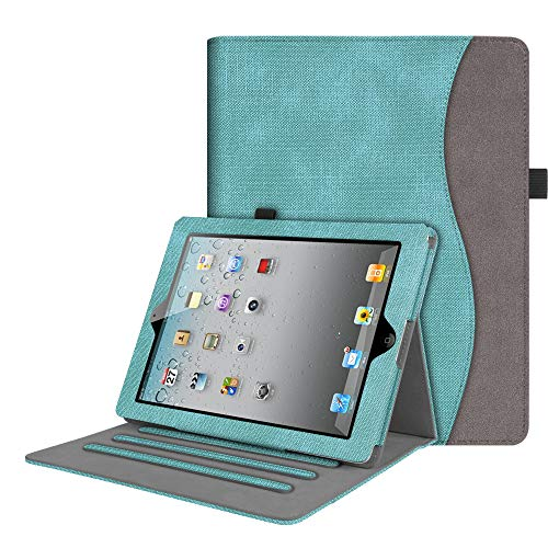 Fintie Case for iPad 2 3 4 (Old Model) 9.7 inch Tablet - [Corner Protection] Multi-Angle Viewing Smart Cover with Pocket, Auto Sleep/Wake for iPad 2/3 & iPad 4th Gen Retina Display, Mint Green