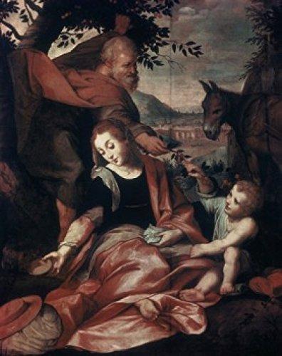 Flight into Egypt 1573 Frederico Barocci (C1535-1612 UrbinoItaly) Vatican Museums & Galleries Rome Poster Print (24 x 36)