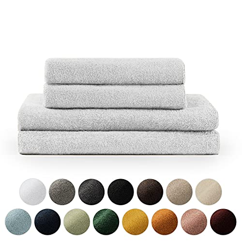 Blumtal Set de 2 Toallas de Baño (70x140cm) + 2 Toallas de Manos (50x100cm) - Toallas Suaves y Absorebentes, 100% algodón, Certificado Oeko-Tex 100, Blanco ⭐