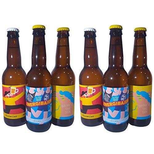 MIKKELLER - SIN ALCOHOL - Pack Degustación de 3 Variedades - Las Mejores Cervezas Artesanas sin Alcohol de MIKKELLER (6 x 33cl)