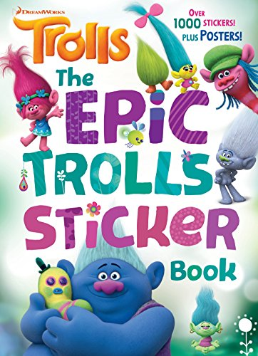 The Epic Trolls Sticker Book (DreamWorks Trolls) (Paperback) by Rachel Chlebowski, Golden Books