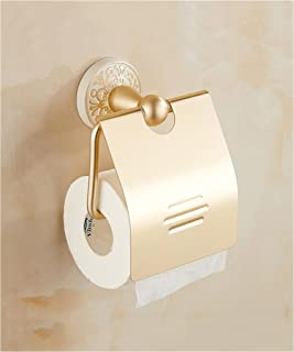 YX XY Gold - Plated Toilet Paper Boxes Toilet Paper Roll Holder Bathroom Accessories (Color : LBNLBL, Size : LBNLBL)
