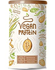 Vegan Protein - Chocolade - Plantaardig proteinen van gekiemde rijst, erwten, lijnzaad, amaranth, zonnebloempitten, pompoenzaad |poeder met natuurlijke chocolade smaak