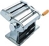SUKHAD Manual Stainless Steel Lasagna Tagliatelle Fettuccine Spaghetti Pasta Noodle Maker Machine, 20
