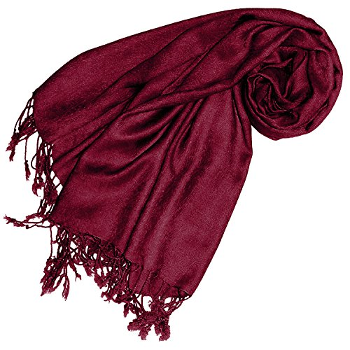 Lorenzo Cana Designer Pashmina hochwertiger Marken-Schal jacquard gewebtes Paisley Muster 60 x 200 cm Viskose harmonische Farben Schaltuch Schal Tuch 93270