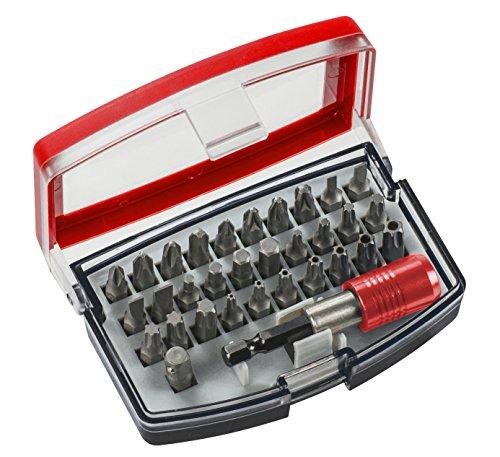 kwb Bit-Set Bitbox mit Bithalter – 32-teilig inkl. 1/4 Zoll Sechskant-Schaft nach ISO 1173 und C 6.3 Form