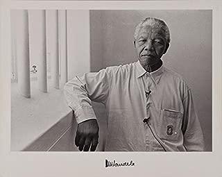 Nelson Mandela Autographed Oversized Photograph. Beckett Authentication BAS COA.