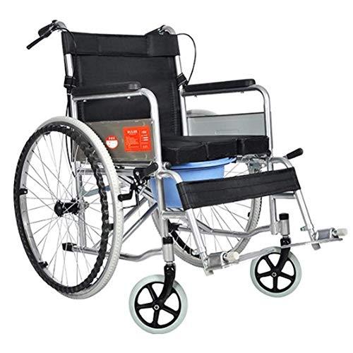 KXA Medical Rehab Chair, Wheelchair,Lightweight Folding Wheelchair Driving Medical, Wheelchair with Toilet Multi-Function Elderly Portable Disabled Elderly Step Cart