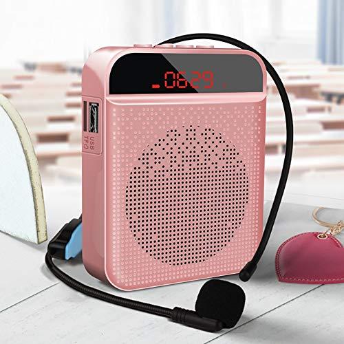 Nargut Portable Line-In Speakers,Voice Amplifier Speaker Waterproof with Microphone Portable Megaphone Loudspeaker for Teachers Tour Guide Presentation