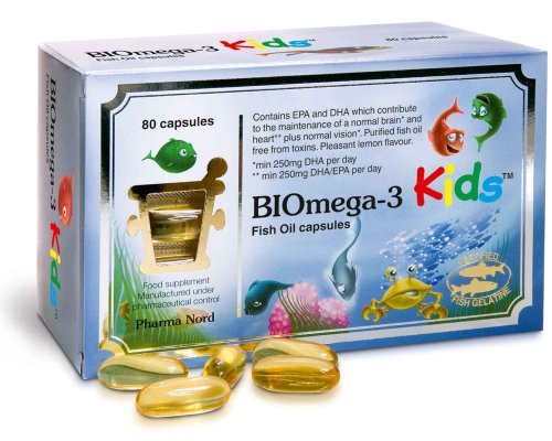 Pharma Nord Omega 3 Kids Bio-Marine Kind 80 Capsules