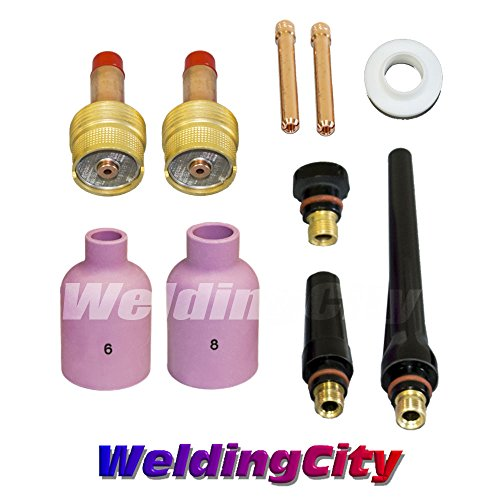 3//32 18 and 26 Series in Lincoln Miller ESAB Weldcraft CK Everlast WeldingCity 2-pk Large Gas Lens Collet Body 45V64 for TIG Welding Torch 17