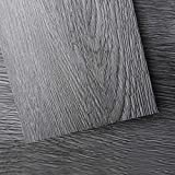 Art3d Peel and Stick Floor Tile Vinyl Wood Plank 54 Sq.Ft, Deep Gray, Rigid Surface Hard Core Easy DIY Self-Adhesive Flooring