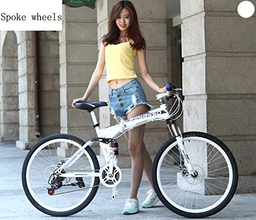 Plegables Bicicletas BMX Crucero De Carretera Montaña Híbridas Autoequilibriopaseo 24/26 Pulgadas, 21/24/27/30 Velocidad