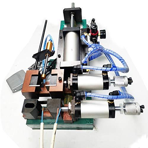 HYY-YY 310 Pneumatische Peeling-Stripping-Schneidemaschine Computer-Draht-Stripper-Maschine elektrische runde Kabel-Abisoliermaschine (Color : AC 110V)