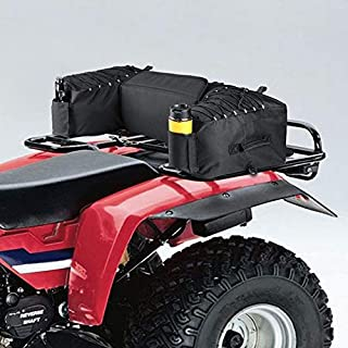 kemimoto ATV Gear Bag Waterproof Rear Cargo Storage Bags ATV Rack Pack Utility Pack with Cushion, Water Bottle Holder