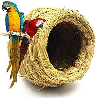 ANTOLE Handmade Straw Natural Bird Nest/Pigeon Bird House Parrot Nest Warm Pet Bedroom Courtyard Bird Cages Adornment