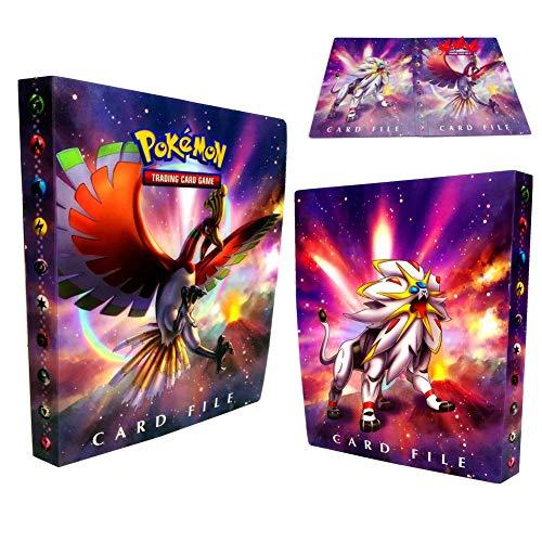 Pokemon Kartenhalter, Pokemon Karten GX EX Trainer Alben, Sammelkartenalben, 30 Seiten Kann bis zu 240 Karten aufnehmen (Small Ho-oh)