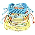 FANCY SHINY 5 Pieces Braided Rope Waterproof String Bracelet