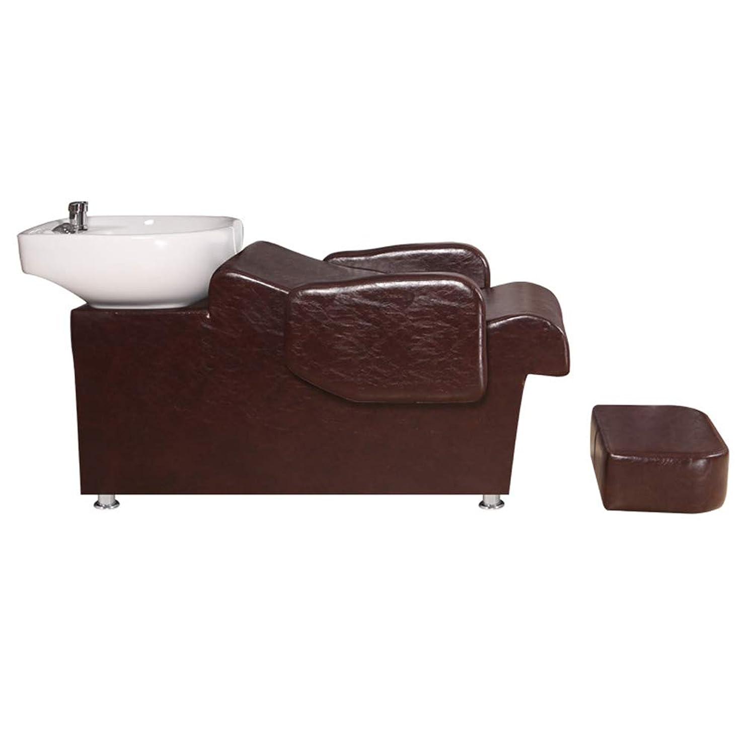 マイナーガイダンス適合シャンプーの理髪師の逆洗の椅子、鉱泉の美容院のためのシャンプーボールの流しの椅子半横たわっている鉱泉の美容院装置