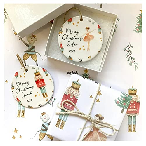 Hawtrytoa 2021 Ornament, Luxe Kerstboom Ornamenten, Notenkraker en Fairy Kerstboom Ornamenten, Gepersonaliseerde…