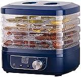 FDSAD Deshidratador Secador de Alimentos Deshidratador de Alimentos para cecina con Temporizador y Control de Temperatura (95F-158F) y Bandeja de 5 Capas Adecuada para la producción