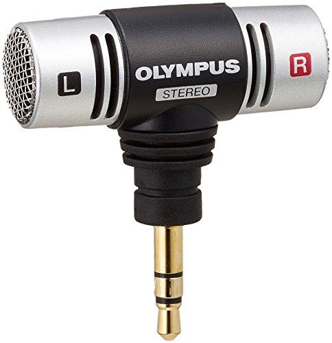 Olympus ME-51S Stereo Mikrofon (T Typ), aufsteckbares Mikrofon für alle Olympus Diktiergeräte der WS- und DM-Serie
