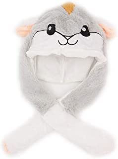 Tinfun Cute Animal Hat/Funny Plush Hat for Kid and Adult with Moving Ears When Pressing The Paws