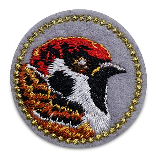 Finally Home Kleine vogel rode kop patch om op te strijken | patches, strijkpatch, patch, patch