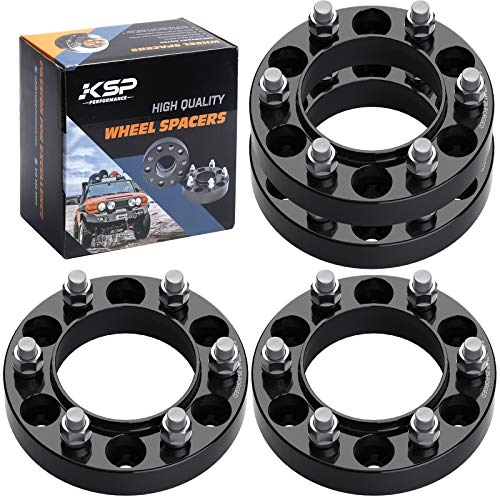 KSP Forged 4Pcs 1.25' 6x5.5 to 6x5.5 Wheel Spacers Thread Pitch 12x1.5 Hub Bore 106mm 6 Lug 32mm Hub Centric Wheel Spacers Fit for 4-Runner Tacoma Tundra FJ Cruiser Sequoia