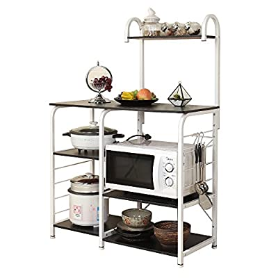 sogesfurniture Kitchen Baker's Rack Utility Microwave Oven Stand Storage Cart Workstation Shelf,BHUS-172 from sogesfurniture
