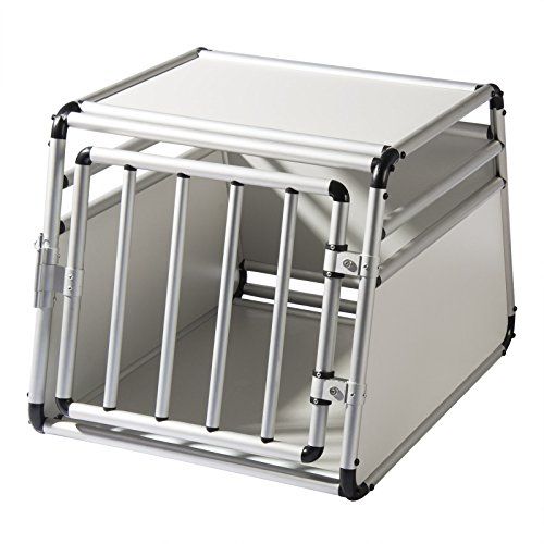 EUGAD Alu Hundetransportbox Hundebox Hundekäfig Autobox Reisebox Box L 69 x B 54 x H 50 cm 0059HT