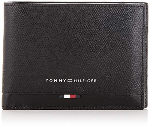 Tommy Hilfiger - Business Leather Extra Cc & Coin, Carteras Hombre, Negro (Black), 1x1x1 cm (W x H L)
