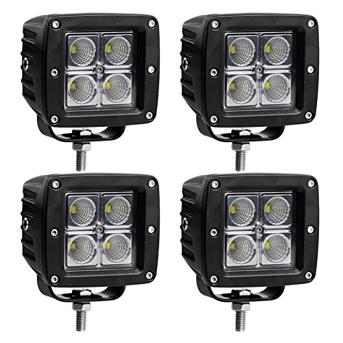 LED Light Bar LEDKINGDOMUS 4pcs 20W 4inches Flood Cube LED Work Light Pod Off Road Light Led Fog Light Truck Light Driving Light Boat Light Compatible for Truck, Pickup, SUV, ATV, UTV, Waterproof