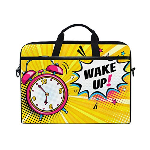 Irud Laptop-Tasche mit Wecker und Weckfunktion, Aktentasche, Schultertasche, Messenger-Tasche, Tablet, Business-Tragetasche, Laptop-Tasche für Damen und Herren (38,1 - 39,1 cm)