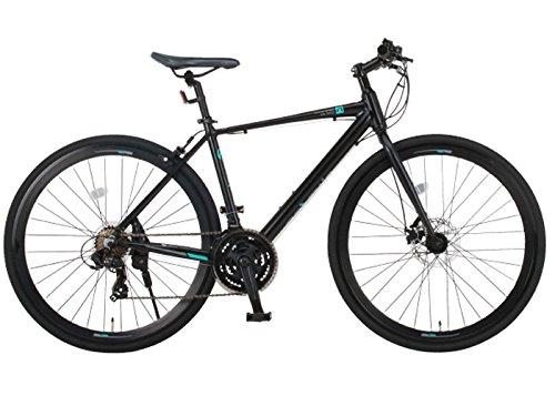 NEXTYLEネクスタイルCNX-7021DCディスクブレーキシマノ製21段変速アルミ700cクロスバイク自転車27インチ通勤700c(ブラック)