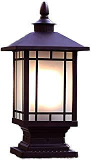 Outdoor Royal Bulb Lamp Outdoor Solar Light Fixture Column Safety Lighting Pillar Post Lights Creative Porch Pathway Decki...