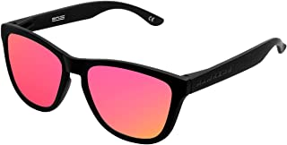 Hawkers Men's CARBON BLACK NEBULA ONE OTR03 Rectangular Sunglasses, Pink, 12 mm
