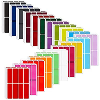 640 Pieces Rectangular Color Coding Label Stick...