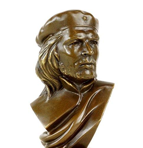 Kunst & Ambiente - Che Guevara Büste aus Bronze - Revolutionär - signiert - Bronzebüste - Bronzefigur auf Marmor
