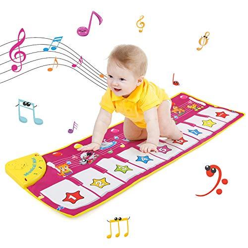 NEWSTYLE Piano Mat, Musiktastatur Spielmatte Elektronische Musik Animal Touch Play Decke Lustiges Spielzeug