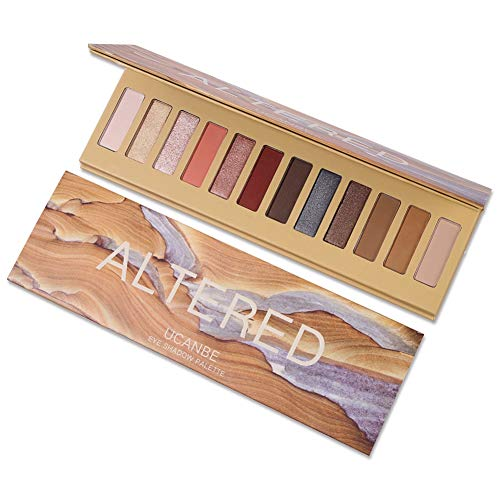 Eyeshadow Palette,ROMANTIC BEAR 12 Couleurs Ombre À Paupières Maquillage Palette Chaude Matte Glitter Oeil Ombres Palette Naturel Longue Durée Cosmétique (G)