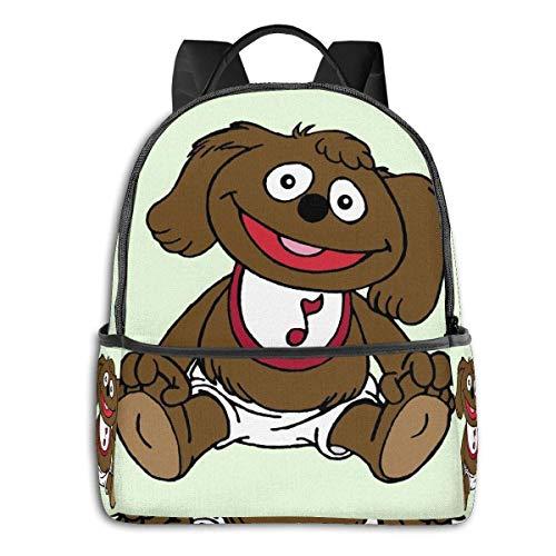 Muppet Babies-Rowlf - Mochila escolar para estudiantes