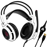 KLIM Puma - Micro Casque Gamer - Son 7.1 - Audio Très Haute Qualité - Casque PS5 avec Vibrations Intégrées - Confortable - Parfait pour Gaming PC et PS4 PS5 - Nouvelle Version 2020 - Blanc