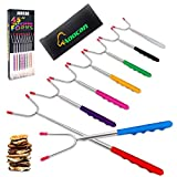 Aoocan Marshmallow Roasting Sticks Set of 8 Extend 45' Smores Sticks for Fire Pit, Telescoping Rotating Smores Skewers - Hot Dog Roasting Sticks for Campfire, Camping, Bonfire and Grill