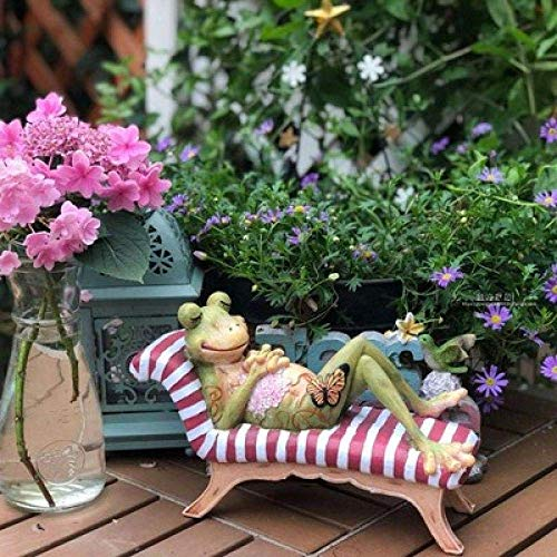QGL-HQ Décorations décoration résine Grenouille Cour terrasse Jardinage Table en Plein air Art Artisanat Jardin