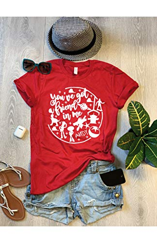 Medium/Canvas Red/You've Got A Friend In Me/Disney Inspired Shirt/Disney Toy Story Shirt/Cold Season