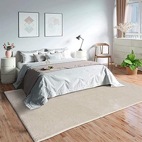 MIA´s Teppiche Olivia - Alfombra para salón, 100% poliéster, 160 x 230 cm, Color Beige